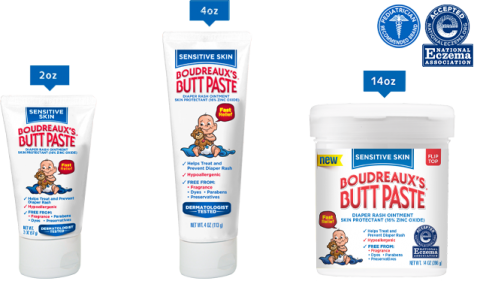 Boudreaux's Butt Paste Sensitive sizes
